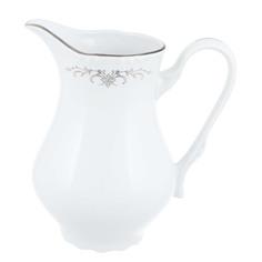 Молочник высокий 850 мл Thun1794 декор серый орнамент, отводка платина