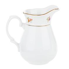 Молочник высокий 350 мл Thun1794 декор Мелкие цветы, отводка золото