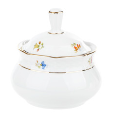 Сахарница 350 мл Thun1794 декор Мелкие цветы, отводка золото