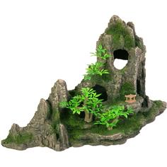 Грот для аквариумов Trixie Скалы с пещерой и растениями 27,5 см