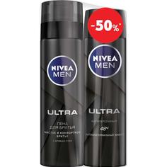 Набор Nivea Men Пена для бритья Ultra 250 мл + Дезодорант мужской Ultra 150 мл