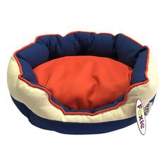 Лежак для животных Foxie Colour Овальный синий 60x50x23 см