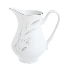 Молочник высокий 850 мл Thun1794 декор серебряные колосья, отводка платина