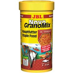 Корм для рыб JBL Novo Grano Mix для средних и больших аквариумных рыб 250 мл