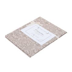 Скатерть Saint Linen бежевая с орнаментом 150х150 см