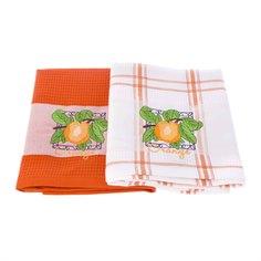 Набор кухонных полотенец 2шт orange Asil