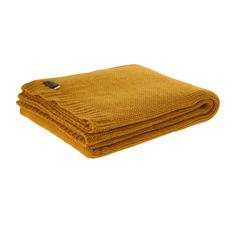 Плед вязаный 130x180 Tweedmill mustard
