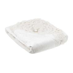 Скатерть велюр с кружевом Maison dor ronse 160х230 + 8 салфеток 45х45