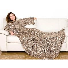 Плед с рукавами Kanguru leopard 140x210 см