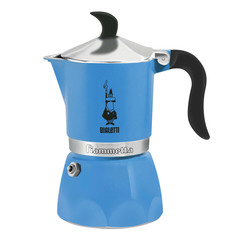 Кофеварка гейзерная Bialetti Fiametta Light Blue на 3 чашки