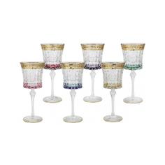 Набор 6 бокалов для вина цветная флоренция Same (SM3171/678-AL)