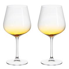 Набор фужеров Crystalite Bohemia Стрикс/Амбер для вина 2х600 мл