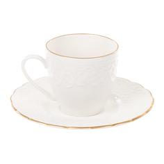 Чашка с блюдцем кофейная 100 мл, Kutahya Porselen irem отводка золото