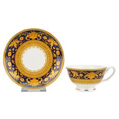 Набор чайных пар Top art Версаль Синее Золото 180 мл 2 шт