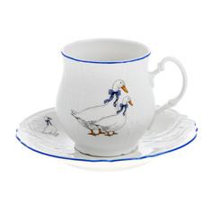 """Чашка с блюдцем Bernadotte """"Гуси"""" 0,25 л"""