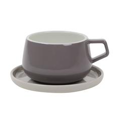 Чашка с блюдцем Viva Scandinavia Ella серый 300 мл