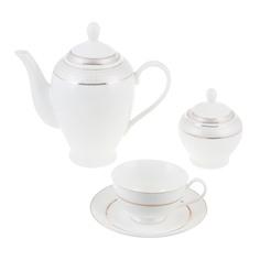 Набор чайный Macbeth bone porcelain Laura 14 предметов 230мл 6 персон