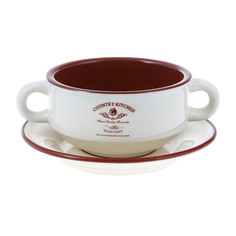 Чаша суповая Terracotta на блюдце 300 мл
