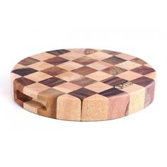 Доска разделочная Gipfel Круглая шахматка 23x5 см