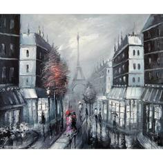 Картина Гармония контрастов. Париж 32х40 см de Pacheco
