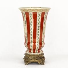 Ваза фарфоровая с бронзой 18х18х30 см Wah luen handicraft