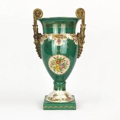 Ваза фарфоровая с бронзой 25х20х46 см Wah luen handicraft