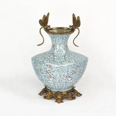 Ваза фарфоровая со стрекозами 31х22х33 см Wah luen handicraft