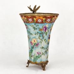 Ваза фарфоровая с бронзой 22х22х33см Wah luen handicraft