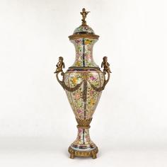 Ваза фарфоровая с ангелами 33х23х77 см Wah luen handicraft