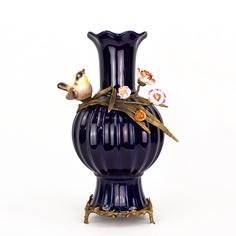 Ваза фарфоровая с птичками 25х20х38см Wah luen handicraft