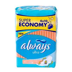 Прокладки Always Ультра Нормал Плюс Квадро 40 Шт.Гигиенические