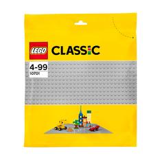 Игрушка Классика Строительная пластина серого цвета 10701 Lego