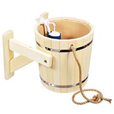 """Русский душ 20 л, обливное устройство c пластиковой вставкой и наливным клапаном в коробке, липа, """"Банные штучки""""/1"""