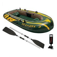 Лодка Intex Seahawk 3 + весла и насос 68380 NP