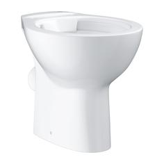 Напольный безободковый унитаз GROHE Bau Ceramic, горизонтальный выпуск (без сиденья), альпин-белый (39430000)