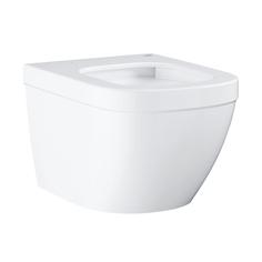 Подвесной безободковый компактный унитаз GROHE Euro Ceramic, (без сиденья), альпин-белый (39206000)