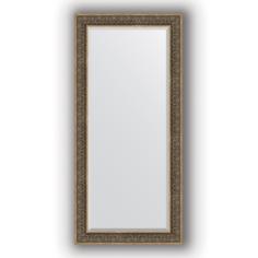 Зеркало в багетной раме Evoform вензель серебряный 79х169 см