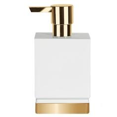 Дозатор для жидкого мыла Spirella Roma белый золотой