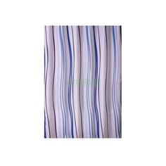 Штора для ванной комнаты Primanova Aurora с вертикальным рисунком волной (голубая)180х200 см