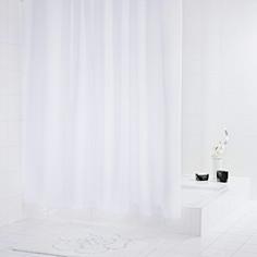Штора для ванных комнат Diamond белый 180*200 Ridder