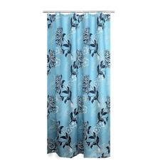 Штора для ванных комнат Blomstar синий/голубой 180*200, Aqm Ridder