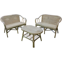 Комплект Bizzotto Ines две софы и столик кофейный