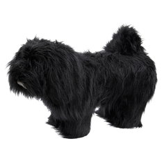 Пуф Euroson пушистая собака черная