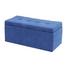 Банкетка Dreambag лонг синий велюр 100х46х46