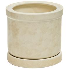 Горшок для цветов Элитная керамика цилиндр бежевый 20 см