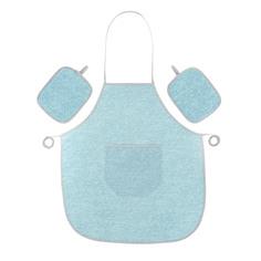 Набор Olibo blue: фартук + 2 прихватки