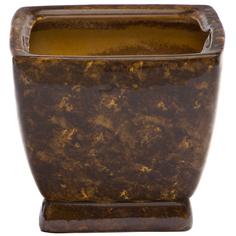 Горшок для цветов Элитная керамика парус коричневый 25 см