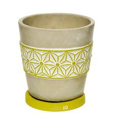 Горшок с поддоном цементный для цветов Shuanyi 15x15 см