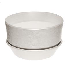 Горшок с поддоном керамический для цветов Керам бокарнейница белый d 32см.