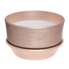 Горшок с поддоном керамический для цветов Керам бокарнейница персик d 32см.